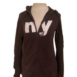 ROXY New York Brown Hoodie Size M